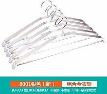 u-icordarsi Aluminium Home Kleiderbügel keine Track Garderobe Kleiderständer-Luftverteidigung aufgehängt rutschfest polig, 10, 8001Circle (Silber)