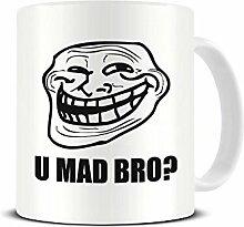 U MAD BRO? Meme – Trollface – Lustige –
