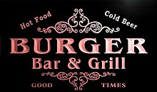 u06128-r BURGER Family Name Bar & Grill Cold Beer