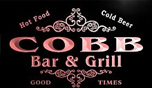 u08493-r COBB Family Name Bar & Grill Cold Beer