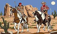 U24 Fahne Flagge Cowboy und Indianer 90 x 150 cm