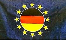 U24 Fahne Flagge Europa mit Deutschland rund 90 x