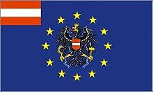 U24 Fahne Flagge Europa mit Österreich Adler 90 x