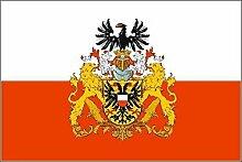 U24 Fahne Flagge Lübeck mit großem Wappen 90 x 150 cm