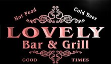 u27159-r LOVELY Family Name Bar & Grill Home Beer Food Neon Sign Barlicht Neonlicht Lichtwerbung