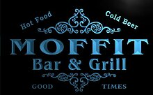 u30970-b MOFFIT Family Name Bar & Grill Home Brew Beer Neon Sign Barlicht Neonlicht Lichtwerbung
