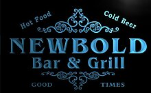 u32367-b NEWBOLD Family Name Bar & Grill Home Brew Beer Neon Sign Barlicht Neonlicht Lichtwerbung