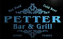 u34834-b PETTER Family Name Bar & Grill Home Brew Beer Neon Sign Barlicht Neonlicht Lichtwerbung