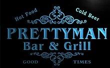 u35900-b PRETTYMAN Family Name Bar & Grill Home Brew Beer Neon Sign Barlicht Neonlicht Lichtwerbung