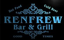 u37245-b RENFREW Family Name Bar & Grill Home Brew Beer Neon Sign Barlicht Neonlicht Lichtwerbung