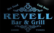 u37359-b REVELL Family Name Bar & Grill Home Brew Beer Neon Sign Barlicht Neonlicht Lichtwerbung