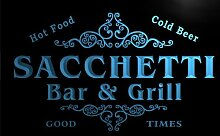 u38862-b SACCHETTI Family Name Bar & Grill Home Brew Beer Neon Sign Barlicht Neonlicht Lichtwerbung