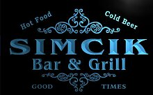 u41554-b SIMCIK Family Name Bar & Grill Home Decor Neon Light Sign Barlicht Neonlicht Lichtwerbung