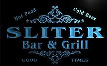 u41894-b SLITER Family Name Bar & Grill Home Decor Neon Light Sign Barlicht Neonlicht Lichtwerbung