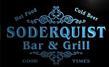 u42120-b SODERQUIST Family Name Bar & Grill Home Decor Neon Light Sign Barlicht Neonlicht Lichtwerbung
