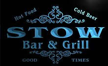 u43479-b STOW Family Name Bar & Grill Home Decor Neon Light Sign Barlicht Neonlicht Lichtwerbung