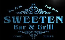 u44055-b SWEETEN Family Name Bar & Grill Home Decor Neon Light Sign Barlicht Neonlicht Lichtwerbung
