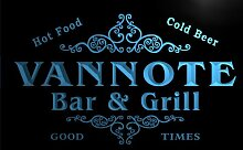 u46530-b VANNOTE Family Name Bar & Grill Home Decor Neon Light Sign Barlicht Neonlicht Lichtwerbung