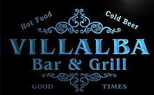 u47006-b VILLALBA Family Name Bar & Grill Home Decor Neon Light Sign Barlicht Neonlicht Lichtwerbung