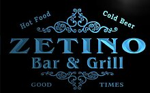 u49765-b ZETINO Family Name Bar & Grill Home Decor Neon Light Sign Barlicht Neonlicht Lichtwerbung