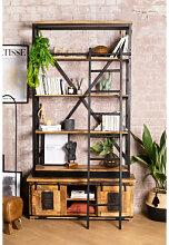 Uain Bücherregal aus recyceltem Holz mit Leiter