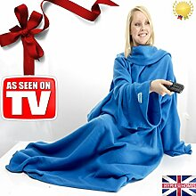 uarehome Snug Decke Erwachsene Ärmeln Arme Decke Fleece Luxus-Decke Warm Winter