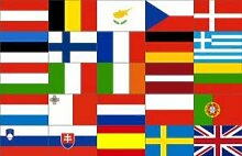 UB Fahne / Flagge Europa 25 Länder 90 cm x 150 cm