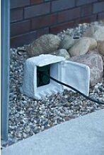 Ubbink Gartensteckdose Stone Decor, mit 4