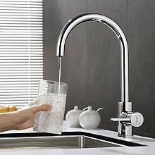 ubeegol 3 Wege Wasserhahn für Wasserfilter