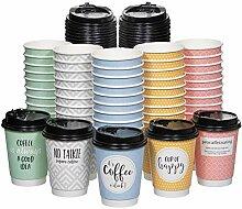 UBREW Einweg-Kaffeebecher mit Deckel,