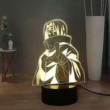 Uchiha Itachi 3D Naruto Anime LED Nachtlicht Smart