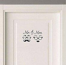 ucsalk Mr & Mrs Brille Schnurrbart Hochzeit Liebe