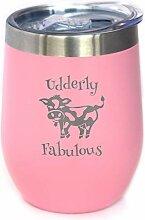 Udderly Fabulous – Weinglas mit Schiebedeckel