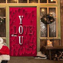 UDKHJH 3D Türaufkleber Romantische Liebe