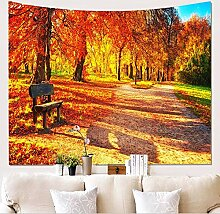 UDstrap Yellow Leaves Maple Tree Herbst Tapestry