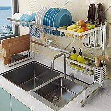 Über dem Waschbecken Geschirrkorb, Abtropffläche