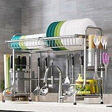 Über dem Waschbecken Geschirrkorb,