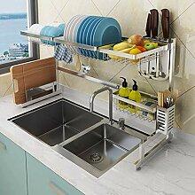 Über dem Waschbecken Geschirrtrockner, Edelstahl