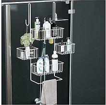 Über der Dusche Glasschiebetür Shampoo