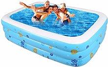 Übergroße Familie Inflated Schwimmbad Großes Haus Sand Pool Fold Kind Outdoor Dicker Spiel Pool Erwachsene Ball Pool Bäder Bad Zylinder Bad Töpfe ( größe : 220CM )