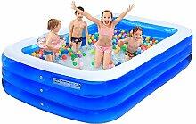 Übergroßer aufblasbarer Pool Große Familie von Kindern, die Pool spielen Schwimmbecken Sandbecken Innen- und Außenpool (Optionale Größe) ( größe : 265*175*60cm )