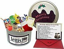 Überlebensset in einer Dose zu Weihnachten Lustige Geschenkidee, inkl. Karte und Umschlag Für eine Tagesmutter / Großmutter / Großvater usw. Geschenk zum 25. Dezember
