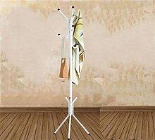 Überlegene Qualität Iron Coat Rack Schlafzimmer Boden Einfache Creative Vertical Hanger Rust - Proof Schlafzimmer Kleiderbügel Racks Langlebig / gesund / starkes Lager ( Farbe : Weiß )