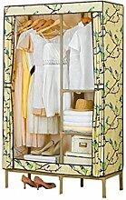 Überlegene Qualität Kombination aus einfachem Kleiderschrank Oxford Tuch Kleiderbügel Lagerregal (gelb / 103 * 45 * 173cm) Langlebig / gesund / starkes Lager