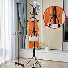 Überlegene Qualität Mantel Racks Schlafzimmer Kleiderbügel Boden Mode Kreativ Kleidung Regale Eisen Anti-Rost (Bronze / 175cm) Langlebig / gesund / starkes Lager