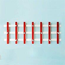 Überlegene Qualität Massivholz-Retro-Mantel-Racks Wand-hängendes Regal Kreatives Schlafzimmer-Aufhänger hook up Langlebig / gesund / starkes Lager ( farbe : #1 )