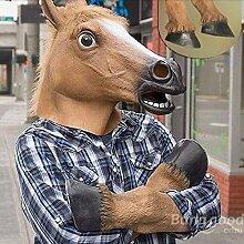 Übermittlung  Pferd effrayant mit GRATIS Maske Latex Aufsätze für Gesicht und Halloween Festival// Creepy Head Latex Face Mask Horse And Hooves For Halloween Festival!!