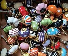 Überraschungspaket! - 12 Stück kleine mini Knäufe - Möbelknopf Möbelknöpfe Möbelgriff Shabby Chic Vintage Retro Keramik Porzellan - wahllose Mischung
