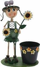 Übertopf Blumenkasten Betty cm.42H. aus Metall