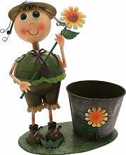 Übertopf Blumenkasten Clara cm.39H. aus Metall